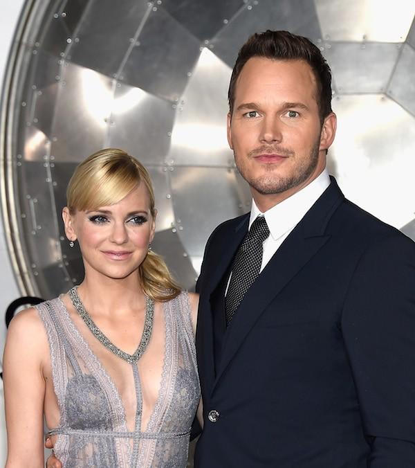 A atriz Anna Farris com o marido, o ator Chris Pratt (Foto: Getty Images)