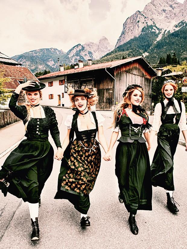 Da região montanhosa da Bavária, terra onde nasceu, A alemã recupera as vestimentas e o clima campestre (Foto: Reprodução)