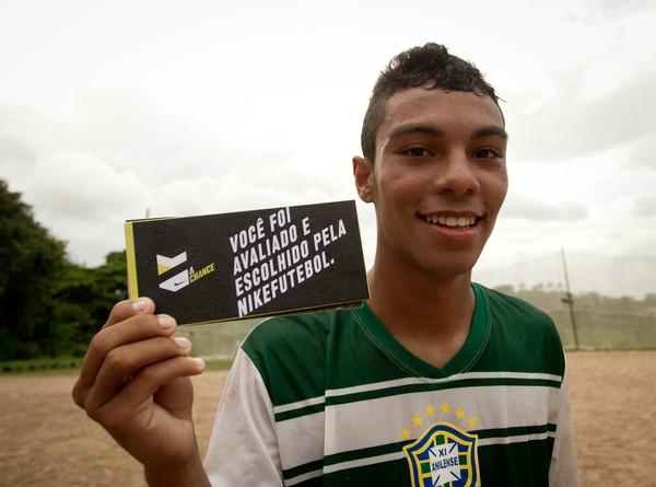 O volante Anderson de Sousa Pinheiro, 18 anos, foi selecionado para a etapa de Salvador do A Chance. (Foto: NikeFutebol - Divulgação)