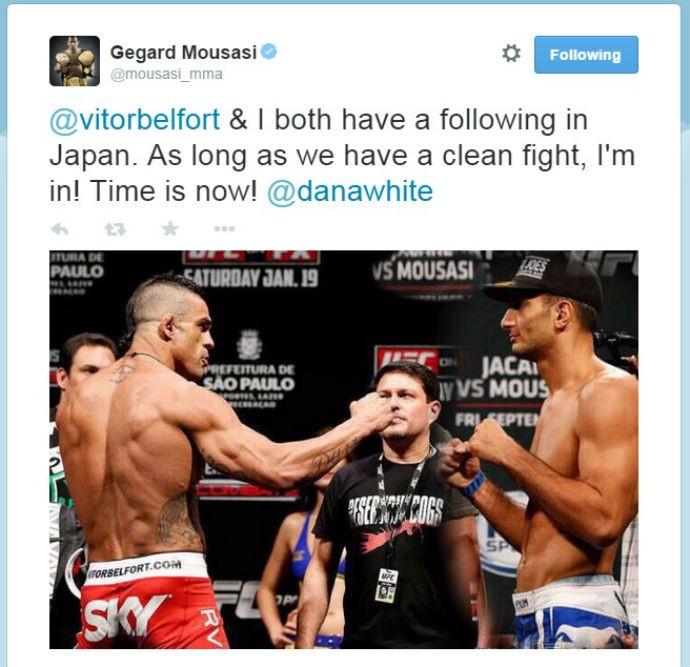 BLOG: Gegard Mousasi pede luta contra Vitor Belfort no Japão