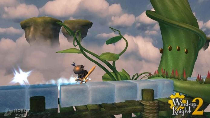 Corra de um lado para outro para completar as fases criativas de Wind Up Knight 2 (Foto: Divulgação)