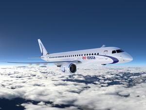 AirCosta fez pedido por 50 jatos da Embraer (Foto: Divulgação/Embraer)