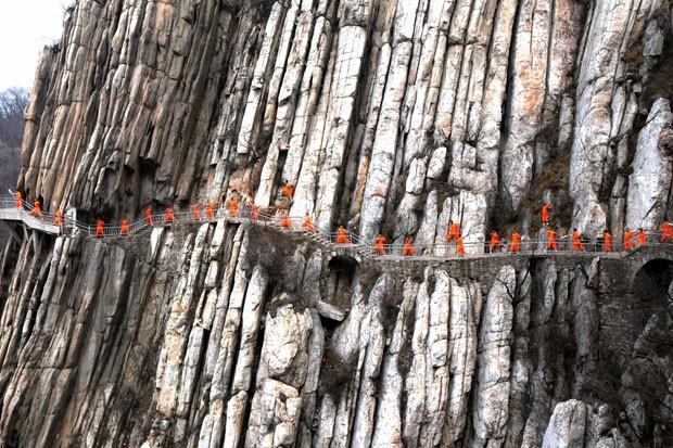 No local, fica o templo budista de Shaolin (Foto: AFP)
