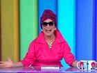 Regina Duarte encarna Viúva Porcina ao vivo a pedido de Monica Iozzi