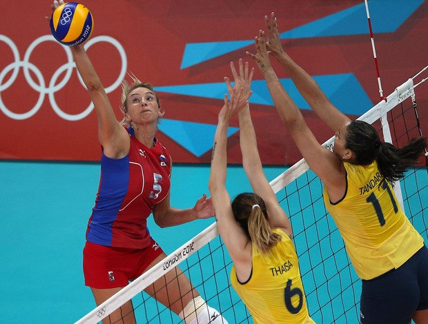 v&#244;lei shashkova r&#250;ssia tandara thaisa brasil londres 2012 (Foto: Ag&#234;ncia Getty Images)