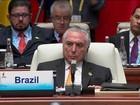 Na China, Temer mantém silêncio sobre cenário político do Brasil