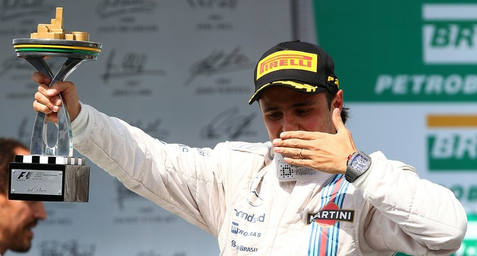 Felipe Massa no pódio do GP do Brasil de 2014 (Foto: Getty Images)