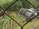 Trem que descarrilou em Itapetininga deve ser retirado nesta terça-feira