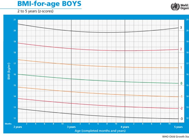 tabela peso meninos (Foto: WHO)