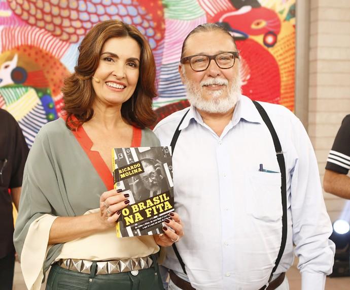 Especialista em segurança Ricardo Molina tirou foto com Fátima (Foto: Fábio Rocha/Gshow)