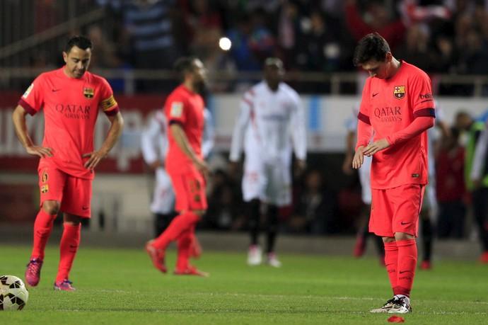 Messi Xavi Barcelona Sevilla (Foto: REUTERS)