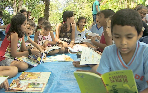 Projeto 'Leitura no Sítio' leva cultura para crianças e adolescentes, em Porto Velho (Foto: Bom Dia Amazônia)