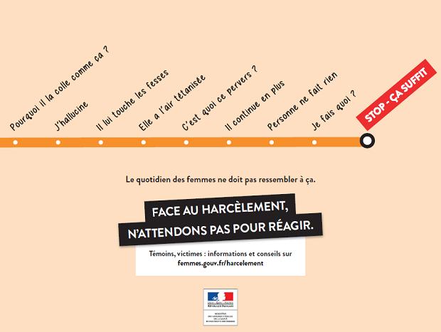 """Campanha em paris: """"Stop ça suffit"""" (Pare, é suficiente) (Foto: Divulgação)"""