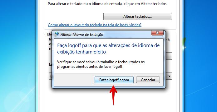 Fazendo logoff no Windows (Foto: Reprodução/Helito Bijora)