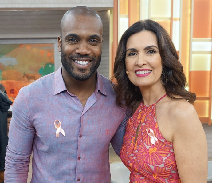 Fátima com o ator Rafael Zulu (Foto: Juliana Hippertt/Gshow)