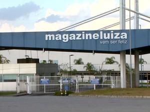 Central de distribuição do Magazine Luiza, em Louveira (Foto: Reprodução / EPTV)