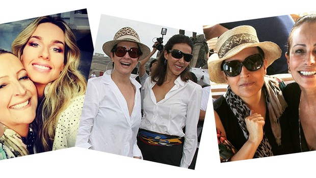 Betty Lago com Dalma Callado e Andrea Dellal (Foto: Divulgação)