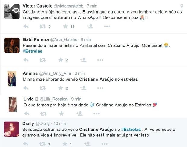 Fãs se emocionam com matéria de Cristiano Araújo no Estrelas (Foto: Reprodução/Twitter)