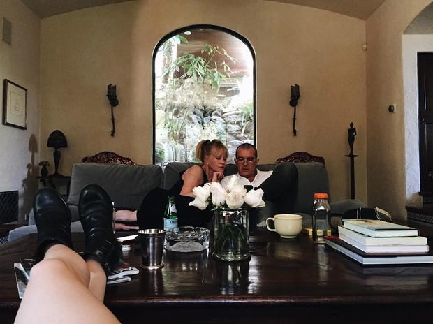 Melanie Griffith e Antonio Banderas (Foto: Instagram / Reprodução)