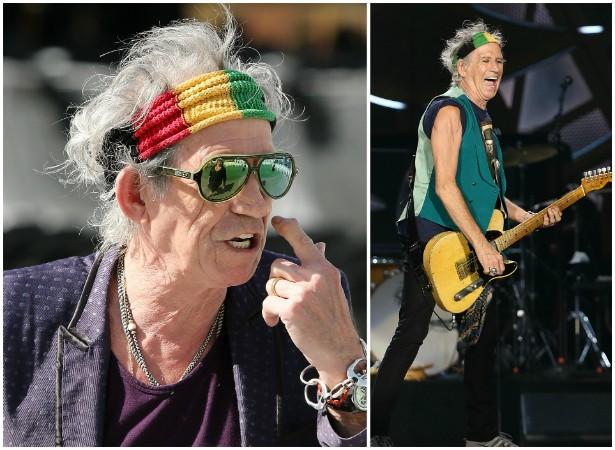 Curte o som que Keith Richards tira da guitarra? Pois o rolling stone até fez um seguro para suas mãos, no valor de 1,6 milhão de dólares. (Foto: Getty Images)