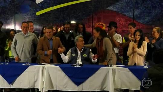 Lenín Moreno e Guillermo Lasso vão para o 2º turno no Equador