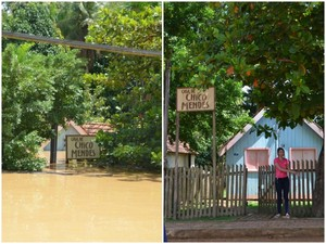 Local foi atingido pela enchente de Rio Acre no início do ano passado (Foto: Caio Fulgêncio/G1)
