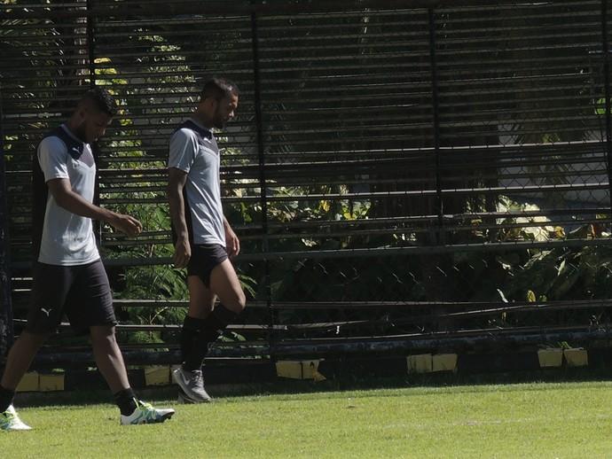 Emerson e Bruno Silva Botafogo (Foto: Marcelo Baltar / GloboEsporte.com)