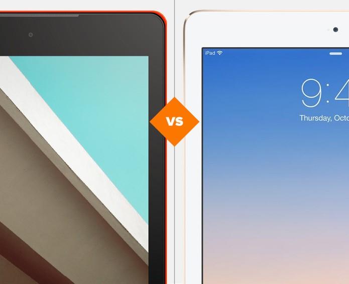 Nexus 9 ou iPad Air 2? Comparativo mostra qual é o melhor tablet (Foto: Arte/TechTudo)