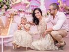 Bella Falconi comemora aniversário de 1 ano da filha com festão