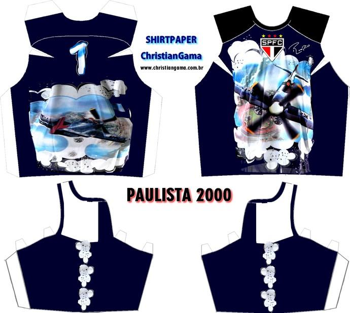 (NÃO USAR) Camisa Rogério Ceni Paulista 2000 (Foto: GloboEsporte.com)