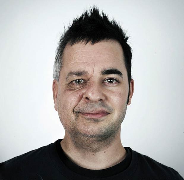 Collette é um designer gráfico e fotógrafo. Ele mora em Quebec. Na foto acima, Denis, de 53 anos, e o filho, William, 28 (Foto: Ulric Collette)