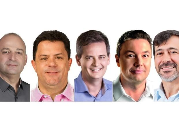 Confira os perfis dos cinco candidatos à prefeitura de Blumenau (Foto: Montagem/G1)
