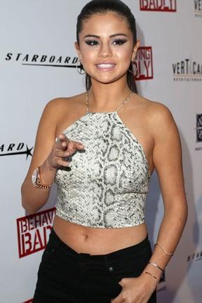 Selena Gomez em première de filme em Los Angeles, nos Estados Unidos (Foto: Frederick M. Brown/ Getty Images/ AFP)