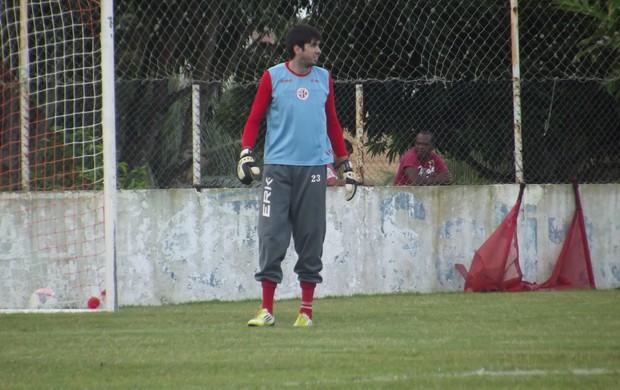 Sílvio, goleiro do América-RN (Foto: Tiago Menezes)