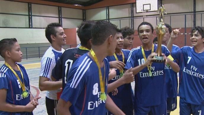 Jogadores do Real Madrid fazem história no time (Foto: Reprodução TV Roraima)