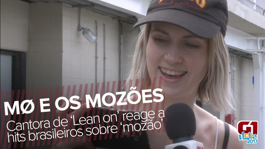 MØ ouve hits brasileiros sobre 'mozão', curte MC G15 e diz que Lucas Lucco é fofo; VÍDEO