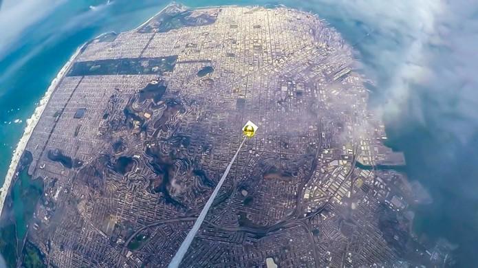 Balão fez vídeos e fotos dos arredores durante a viagem (Foto: Reprodução/Night Crew Labs)