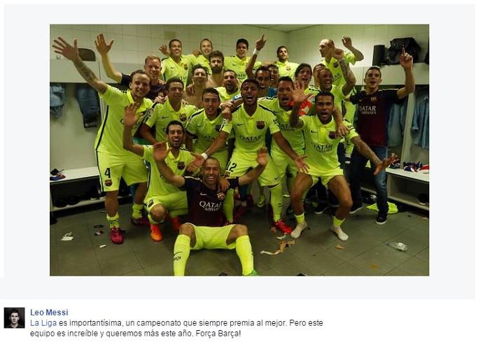 Messi post facebook (Foto: Reprodução/Facebook)