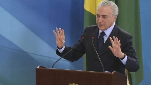Na posse do novo ministro do Turismo, Marx Beltrão, Temer disse que a oposição no Brasil tem uma concepção política (Foto: Antonio Cruz/ Agência Brasil)