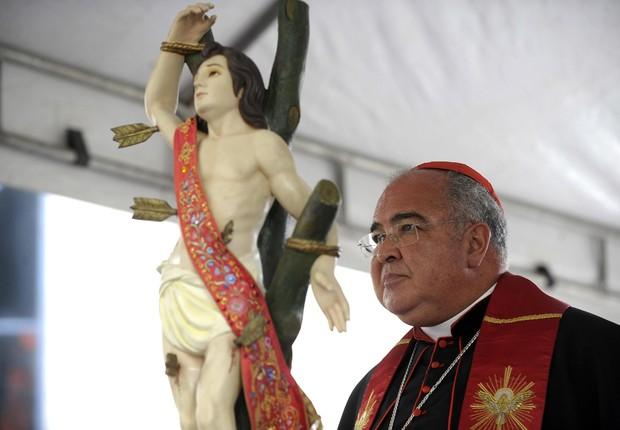 O Cardeal do Rio de Janeiro, Dom Orani Tempesta , visita Centro Administrativo São Sebastião (Foto: Tânia Rego/Agência Brasil)