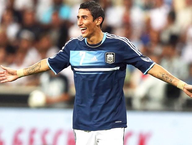 Di Maria comemora gol contra a Alemanha (Foto: Getty Images)