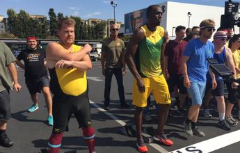 Em Los Angeles, Bolt vence corrida contra ator e estafe de programa
