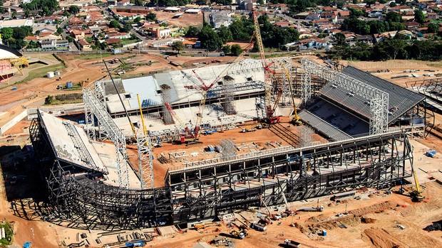 Arena Pantanal obras Cuiaba Copa 2014 (Foto: Divulgação)
