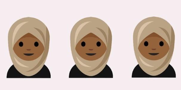 Adolescente muçulmana cria emojis com véu islâmico (Foto: Reprodução)