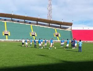 Treino do Cruzeiro no estádio Olímpico Patria (Foto: Marco Antônio Astoni)