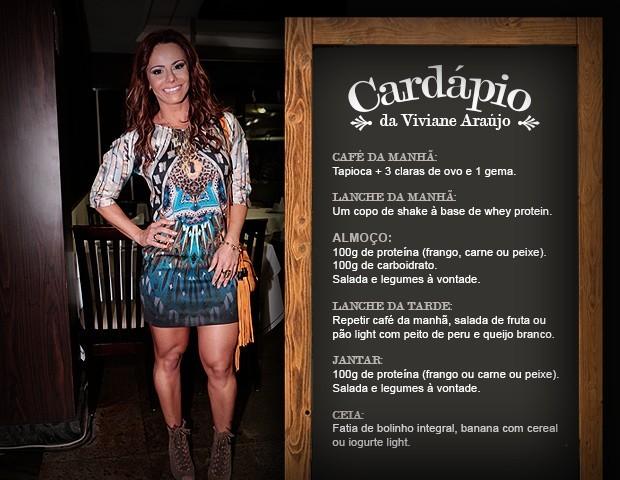 Cardápio Viviane Araújo (Foto: Gshow)