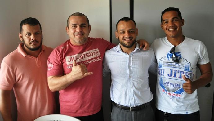 Márcio de Paula, Henrique Machado, Leonardo Calid e Eddie Lopes, representantes da Gracie Barra (Foto: Duaine Rodrigues)