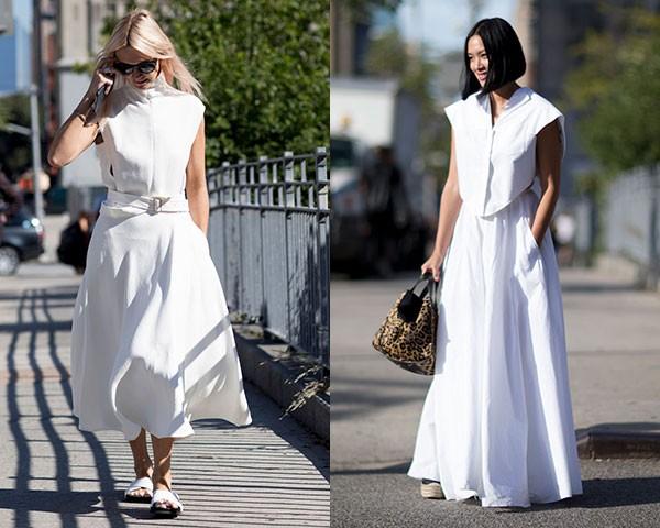 Saias e vestidos funcionam bem na produção monocromática (Foto: Imaxtree)