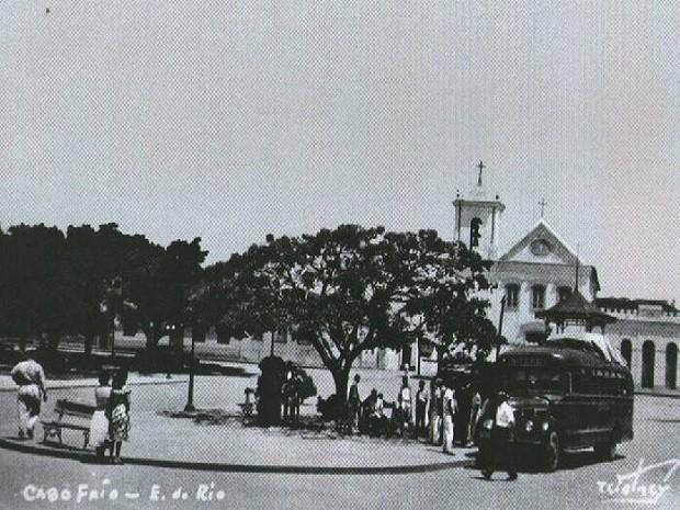 Praça Porto Rocha em 1946  (Foto: Wolney Teixeira)