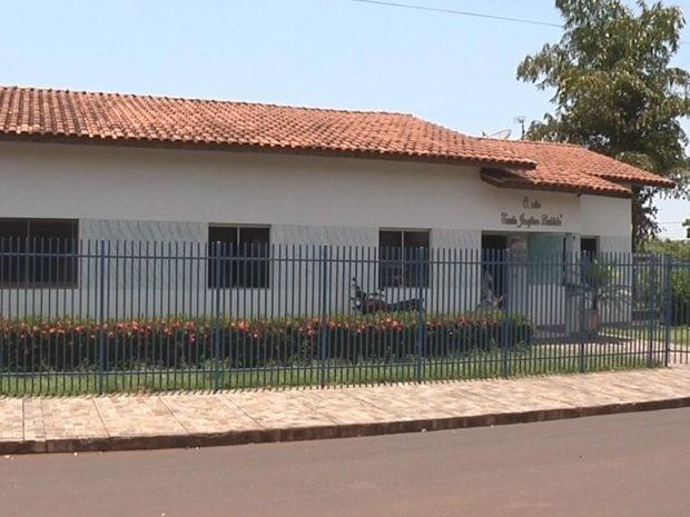 Creche onde teria acontecido as agressões em Santa Albertina (Foto: Reprodução/TV TEM)